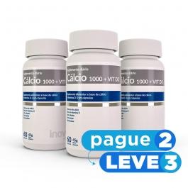 Cálcio 1000 + Vitamina D3 - 60 caps. - Inove Nutrition PAGUE 2 LEVE 3