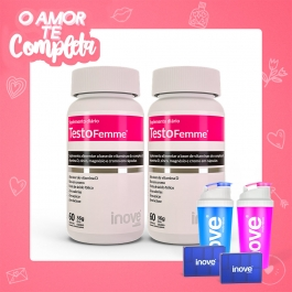 Casal - 2 Testofemme - Inove Nutrition® – c/ 60 cápsulas cada
