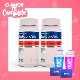 Casal - 2 Testopro500 - Inove Nutrition® – c/ 60 cápsulas cada
