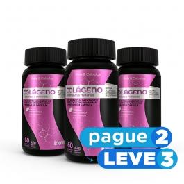 Colágeno + Vitaminas e Minerais 60 cápsulas Inove Nutrition® PAGUE 2 LEVE 3