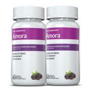 Amora Miura 02 potes c/ 60 cápsulas cada (para menopausa)