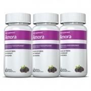 Amora Miura 03 potes c/ 60 cápsulas cada (para menopausa)