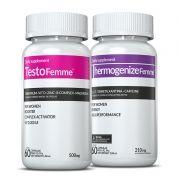 01 Testofemme® + 01 Thermogenize®Femme c/ 60 cápsulas cada (emagrecedor)