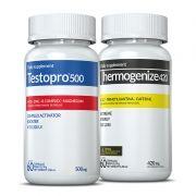 01 Testopro500® + 01 Thermogenize®420 c/ 60 cápsulas cada (força e desempenho)