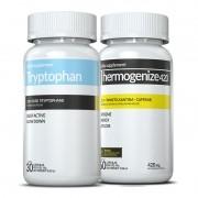 01 Tryptophan (triptofano) c/ 30 cápsulas + 01 Thermogenize®420 c/ 60 cápsulas (definição e recuperação)