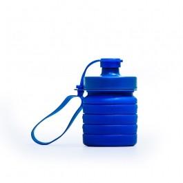 Garrafa Dobrável Silicone Sustentável Azul 400ml Inove Nutrition