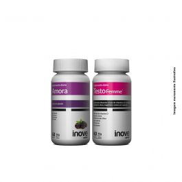 Kit 01 Amora Miura + 01 Testofemme Inove Nutrition c/ 60 cápsulas cada + Brinde Coqueteleira Inove Nutrition 600ML