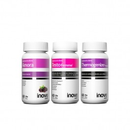 Kit 01 Amora Miura + 01 Thermogenize Femme + 01 Testofemme Inove Nutrition c/ 60 cápsulas cada. + Brinde Necessaire Inove Nutrition
