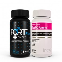 Kit 01 Fort Flex CMDK2 - 90 caps + 01 Testofemme - 60 caps - Inove Nutrition