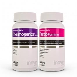 Kit 01 Testofemme + 01 Thermogenize Femme Inove Nutrition c/ 60 cápsulas cada