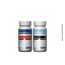 Kit 01 Testopro 500 c/ 60 cápsulas +  01 Triptofano Inove Nutrition c/ 30 cápsulas + Brinde Coqueteleira Inove Nutrition 600 ML