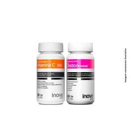 Kit 01 Vitamina C + 01 Testofemme + Brinde Coqueteleira Inove Nutrition