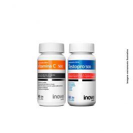 Kit 01 Vitamina C + 01 Testopro + Brinde Coqueteleira Inove Nutrition