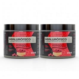 Kit 02 Hialurônico + Colágeno Verisol® - 120g Sabor Cranberry - Inove Nutrition