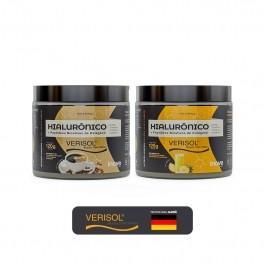 Kit 02 Hialurônico + Colágeno Verisol - 120g Sabores Café - Abacaxi - Inove Nutrition