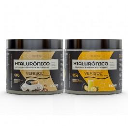 Kit 02 Colágeno Verisol + Ácido Hialurônico - 120g Sabores Café - Abacaxi - Inove Nutrition