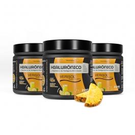 Kit 03 Colágeno Verisol + Ácido Hialurônico - 120g Sabor Abacaxi - Inove Nutrition