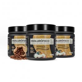 Kit 03 Colágeno Verisol + Ácido Hialurônico - 120g Sabor Café - Inove Nutrition
