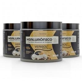 Kit 03 Hialurônico + Colágeno Verisol - 120g Sabor Café - Inove Nutrition