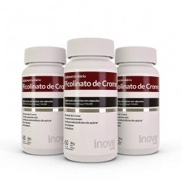 Kit 03 Picolinato de Cromo 60 caps Inove Nutrition
