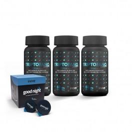 Kit 03 Triptofano Dreams 860mg c/ 60 caps cada + 01Chá Funcional Good c/10 cápsulas - Good Night - Inove Nutrition