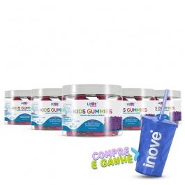 kit 05 Kids Gummies - Vitaminas para Crianças - c/ 30 Gomas cada - Inove Nutrition