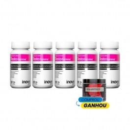 Kit 05 Testofemme - Ganhe 01 Hialurônico + Colágeno Verisol® - 120g - Inove Nutrition