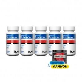 Kit 05 Testopro 500 - Ganhe 01 Hialurônico + Colágeno Verisol® - 120g - Inove Nutrition