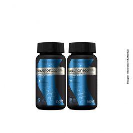 Kit Hialurônico + Peptídeos de Colágeno Inove Nutrition - 2 potes  c/ 30 caps softgel + Brinde 01 Camsieta + Coqueteleira Inove Nutrition.