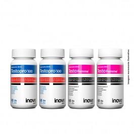 Kit 2x Testofemme + 2x Testopro - 60 caps cada - Inove Nutrition