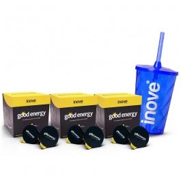 Kit 3x Chá Funcional - Good Energy (energético) - Ganhe 1 Copo c/ Canudo Inove Nutrition®