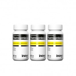 Kit 3x Thermogenize 420 - 60 caps. cada - Brinde Coqueteleira - Inove Nutrition