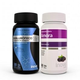 Kit Ácido Hialurônico 30 caps + Amora Miura 60 Caps Inove Nutrition