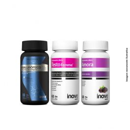 Kit Ácido Hialurônico 30 caps + Amora Miura 60 Caps + Testofemme 60 Caps Inove Nutrition