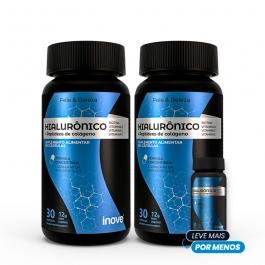 Kit Ácido Hialurônico + Peptídeos de Colágeno - 30 caps - Pague 2 leve 3 - Inove Nutrition