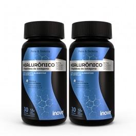 Kit Ácido Hialurônico + Peptídeos de Colágeno (Verisol) - 2 potes  c/ 30 caps softgel - Inove Nutrition