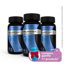 Kit Ácido Hialurônico + Peptídeos de Colágeno Inove Nutrition - 3 potes - Compre & Ganhe + 1 Produto - Inove Nutrition