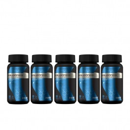 Kit Ácido Hialurônico + Peptídeos de Colágeno Inove Nutrition - 5 potes c/ 30 caps softgel + Brinde Camiseta + Coqueteleira + Porta Cápsulas Inove Nutrition