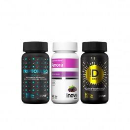 Kit Amora Miura - 60 caps + Triptofano Dreams 860mg - 60 caps + Vitamina D 2000ui - 60 caps + Brinde Inove Nutrition