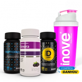 Kit Amora Miura + Triptofano Dreams 860mg + Vitamina D 2000ui - Ganhe 1 Coqueteleira Inove Nutrition