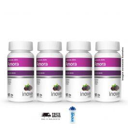 Kit  Amora Miura Inove Nutrition 04 potes Brinde Coqueteleira