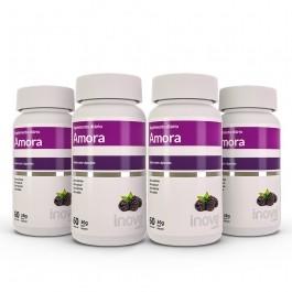 Kit  Amora Miura Inove Nutrition - 04 potes - c/ 60 caps. cada