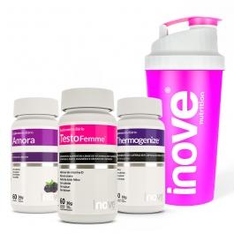 Kit Amora Miura + Thermogenize + Testofemme - Ganhe 1 Coqueteleira Inove Nutrition