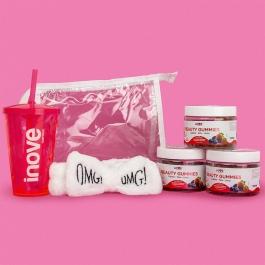 Kit Beauty Gummies - 03 Potes c/ 30 gomas cada - Ganhe 3 Brindes Exclusivos Inove Nutrition