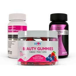 Kit Beauty Gummies + Colágeno + Vitaminas e Minerais + Testofemme - Inove Nutrition