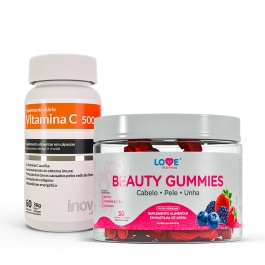 Kit Beauty Gummies + Vitamina C - Inove Nutrition
