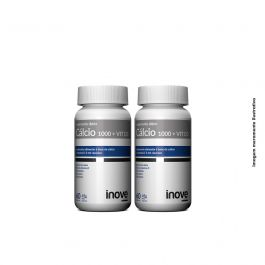 Kit 2x Cálcio 1000 + Vitamina D3 - 60 caps. cada - Inove Nutrition