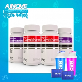 Kit Casal Fitness - 2 L-Carnitina 1000 c/ 60 capsulas cada + 2 Termogênicos c/ 60 capsulas cada - Inove Nutrition®