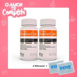 Kit Casal Vitaminado - 2 Vitamina C 1000mg dose – Inove Nutrition® – c/ 60 cápsulas cada