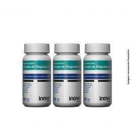 Kit Cloreto de Magnésio P.A  Inove Nutrition 03 potes   c/ 60 cápsulas